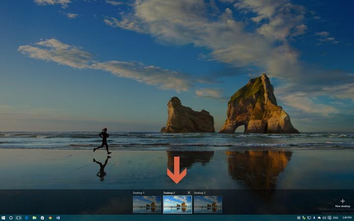 как переключаться между виртуальными рабочими столами windows 10